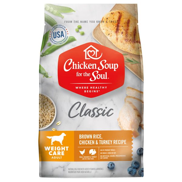 Chicken Soup for the Soul Classic Weight Care Brown Rice, Chicken & Turkey Recipe Dog Food I019212b