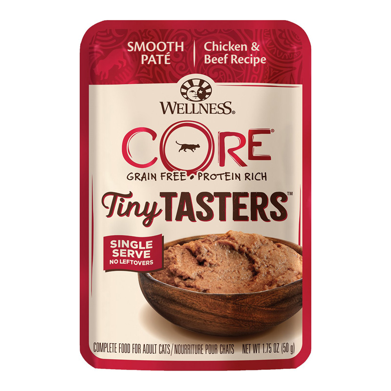 Wellness CORE Tiny Tasters Chicken & Beef Recipe Cat Food 1.75 oz I019283