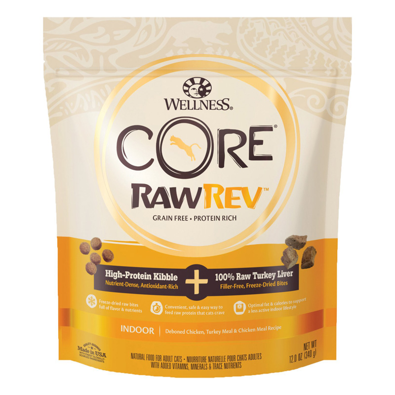 Wellness CORE RawRev Indoor + 100% Raw Turkey Cat Food  I019301