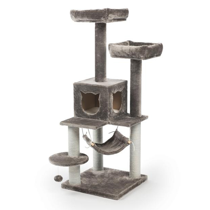 Kitty Power Paws Party Tower Cat Tower 19 1/4 in x 19 1/4 in x 52 3/8 in  I019424