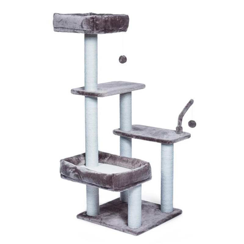 Kitty Power Paws The Ritz Cat Tower 32 in x 25 in x 51 in  I019426