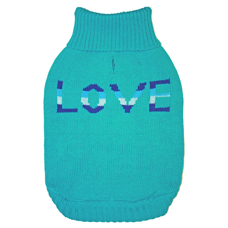 Ethical Products Fashion Pet True LOVE Sweater Teal I019461b