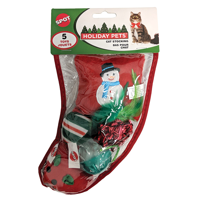 Spot Holiday Pets Cat Stocking 5pc I019472