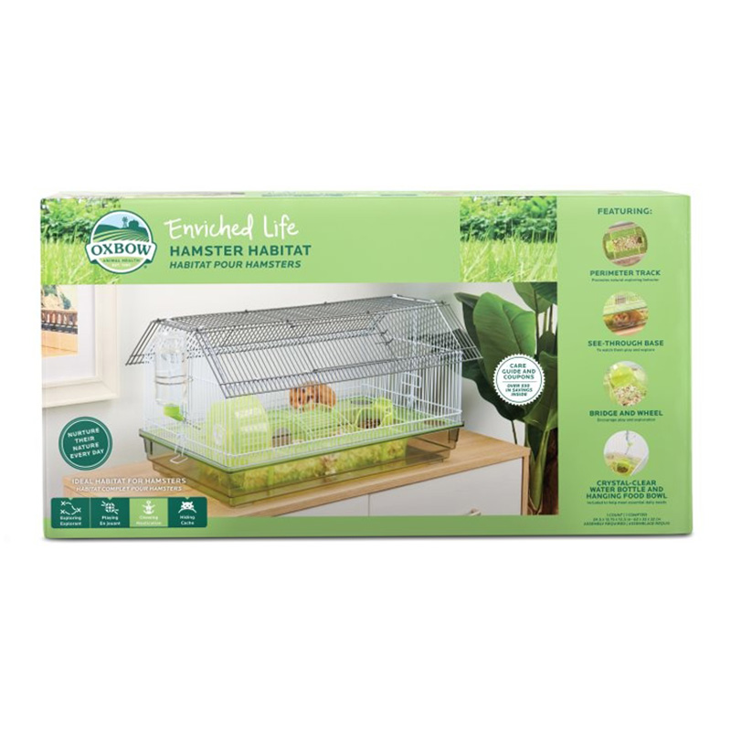 Oxbow Enriched Life Hamster Habitat 24.5 in x 13.75 in x 12.5 in  I019500