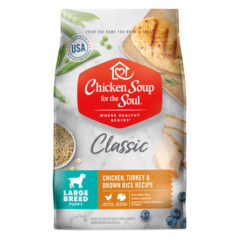 Chicken Soup for the Soul Classic Large Breed Chicken, Turkey & Brown Rice Recipe Dog Food  I019510
