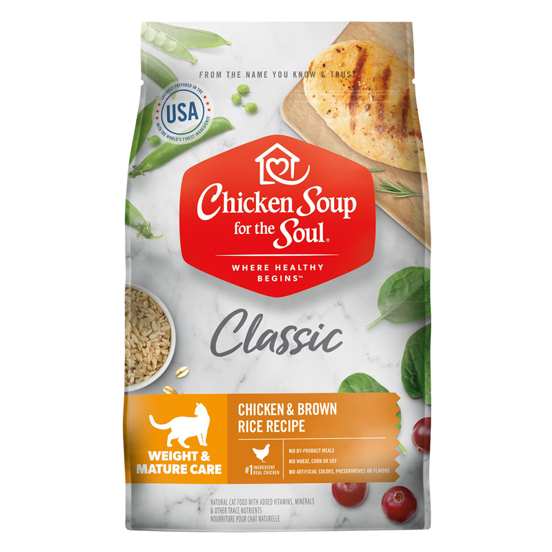 Chicken Soup for the Soul Classic Weight & Mature Care Dry Cat Food Chicken & Brown Rice Recipe I019545b