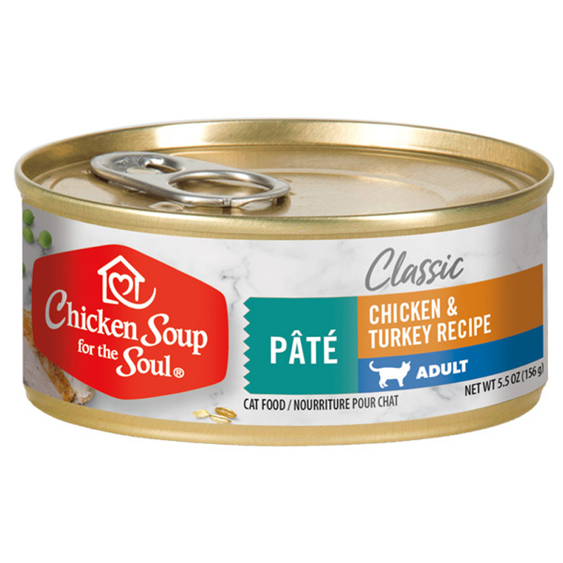 Chicken Soup for the Soul Adult Cat Chicken & Turkey Pate Recipe Cat Food 5.5 oz  I019611