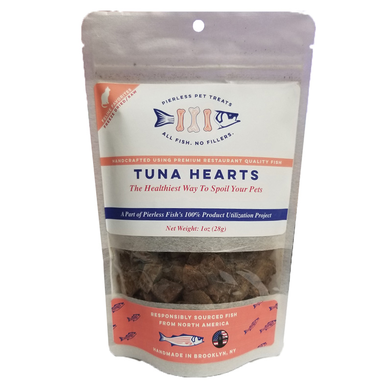 Pierless Pets Tuna Hearts Freeze Dried Cat Treats 1 oz. I019615