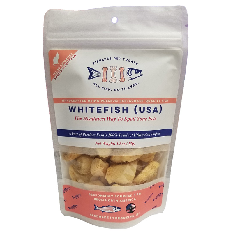 Pierless Pets Whitefish Freeze Dried Cat Treats 1.5 oz. I019616