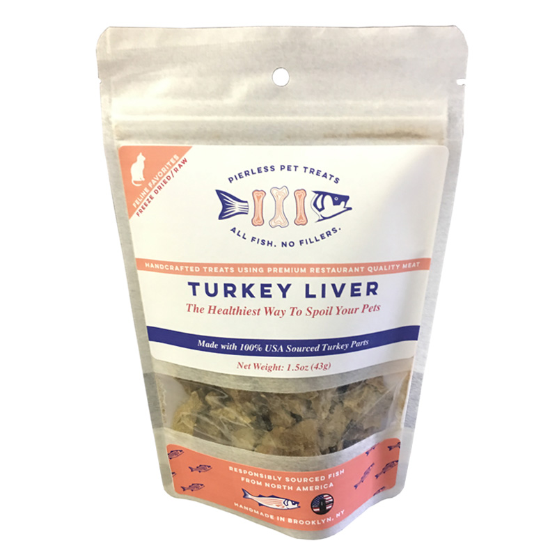 Pierless Pets Turkey Livers Freeze Dried Cat Treats 1.5 oz. I019619