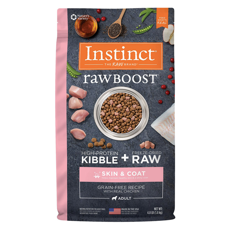 Instinct Raw Boost Grain-Free Recipe with Real Chicken for Skin & Coat Dog Food  I019694b