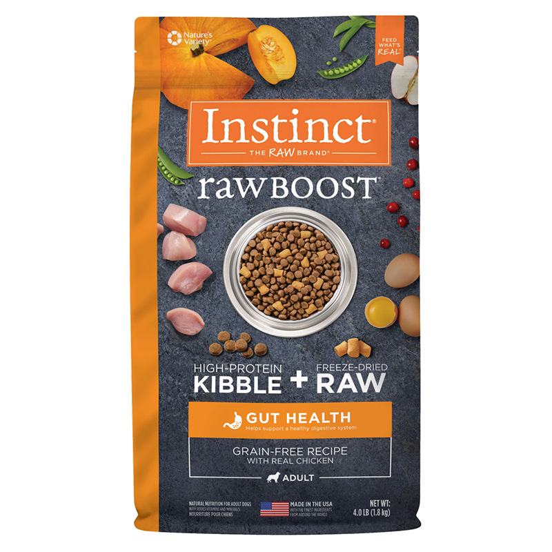 Instinct Raw Boost Grain-Free Recipe with Real Chicken for Gut Health Dog Food  I019696