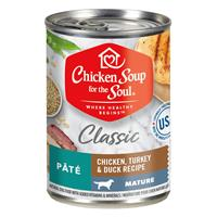 Chicken Soup for the Soul Mature Classic Pate Chicken, Turkey & Duck Recipe  Canned Dog Food 13 oz. I019986