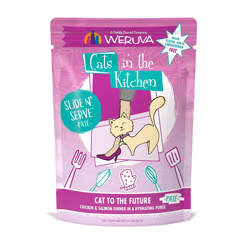 WERUVA Cat to The Future Chicken & Salmon Dinner Pate Cat Food 3 oz  I020029