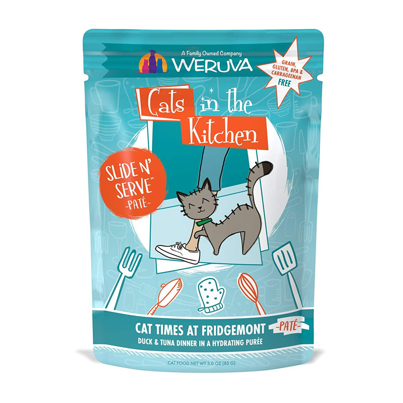 WERUVA Cats in the Kitchen Cat Times at Fridgemont Duck & Tuna Dinner Pate 3 oz  I020032