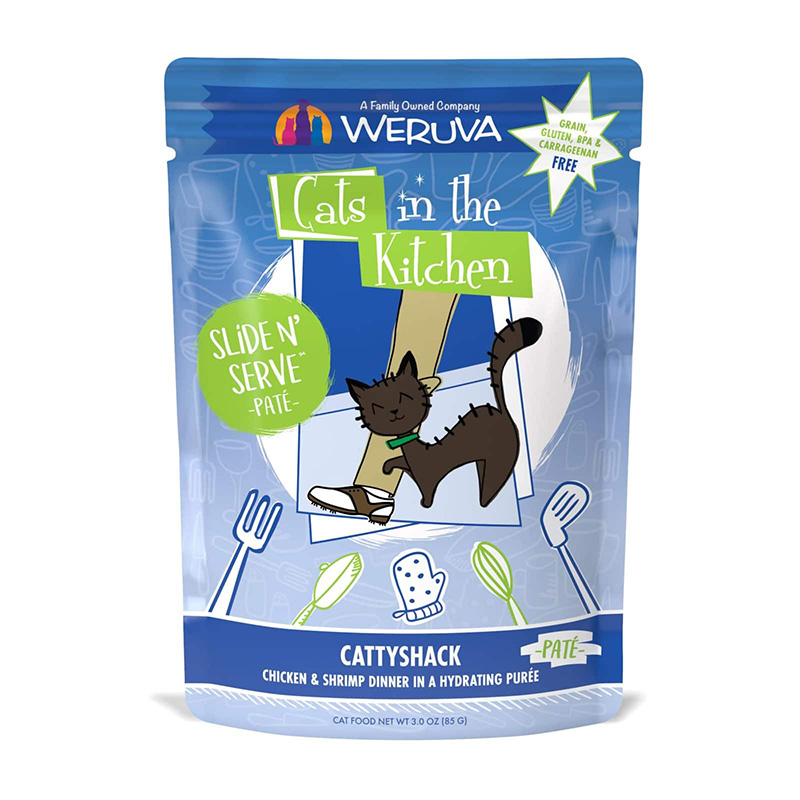WERUVA Cats in the Kitchen CattyShack Chicken & Shrimp Dinner Pate 3 oz  I020034