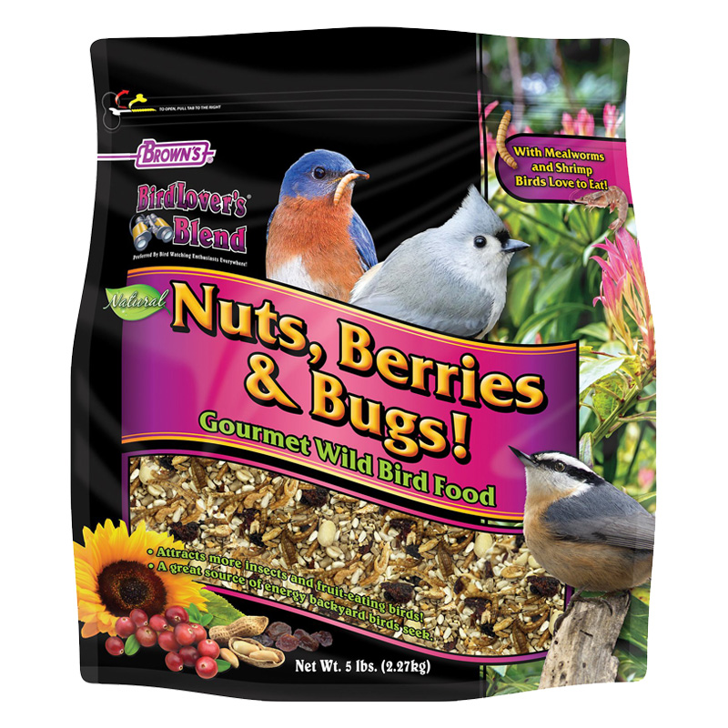 Brown's BirdLover's Blend Nuts, Berries & Bugs! Gourmet Wild Bird Food I020082