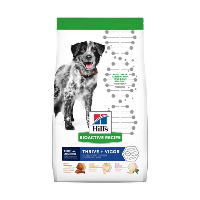 Hill's Bioactive Recipe Adult 6+ Large Breed Thrive + Vigor Dog Food 22.5 lbs  I020118