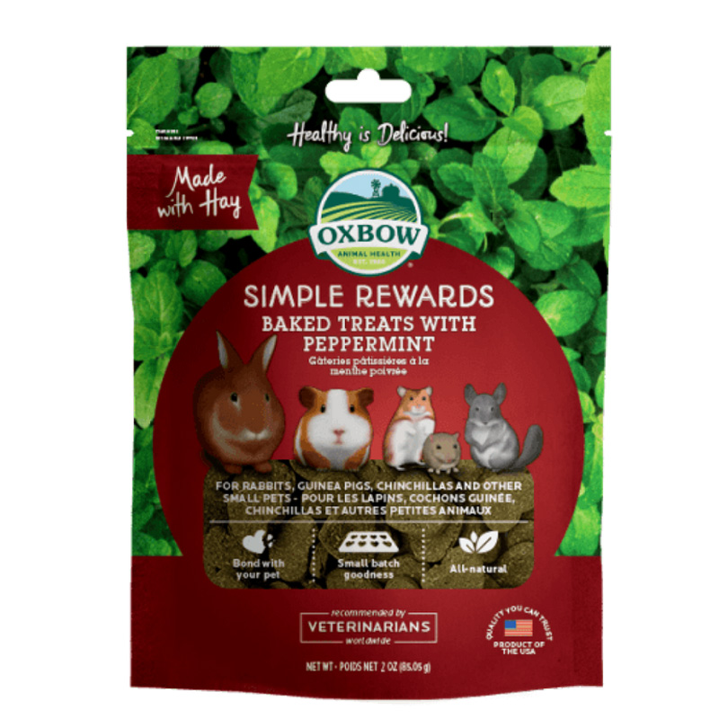 Oxbow Simple Rewards Baked Treats with Peppermint 3 oz. I020182