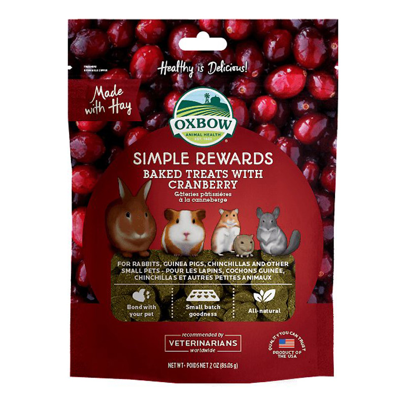 Oxbow  Simple Rewards Baked Treats with Cranberry 3 oz. I020183