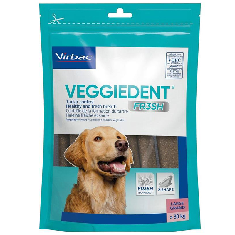 C.E.T. VEGGIEDENT FR3SH Tartar Control Chews for Dogs Large I020220