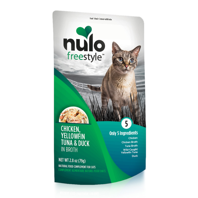Nulo Freestyle Chicken, Yellowfin Tuna & Duck in Broth Natural Food Complement for Cats I020225