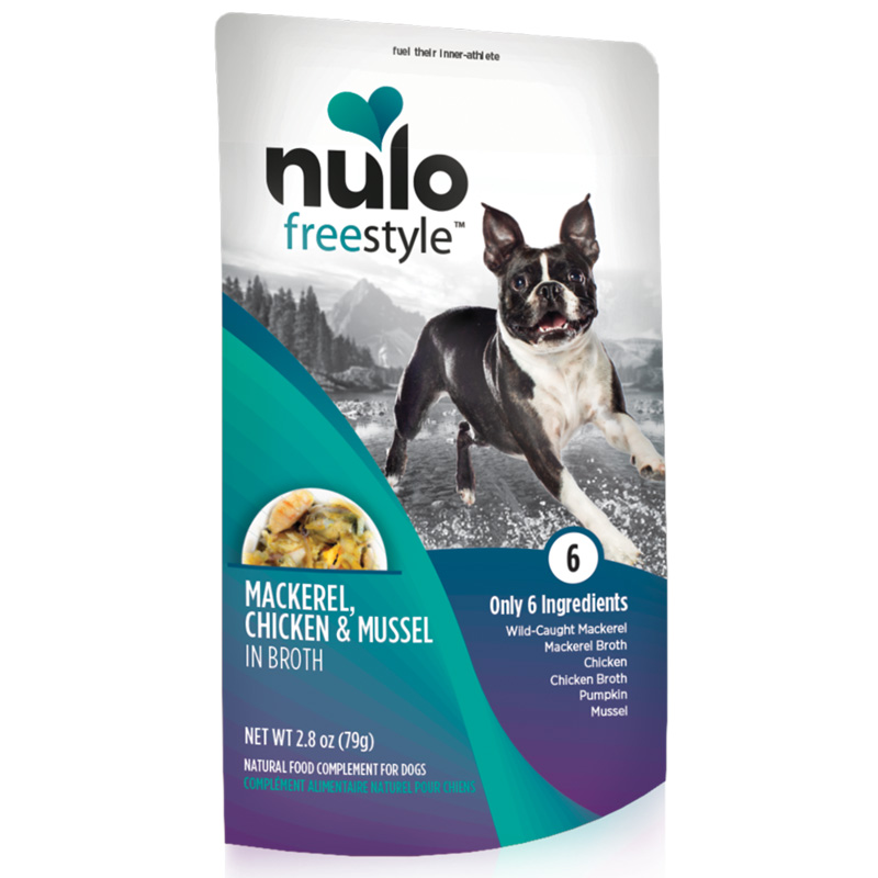 Nulo Freestyle Mackerel, Chicken & Mussel in Broth Natural Food Complement for Dogs I020231