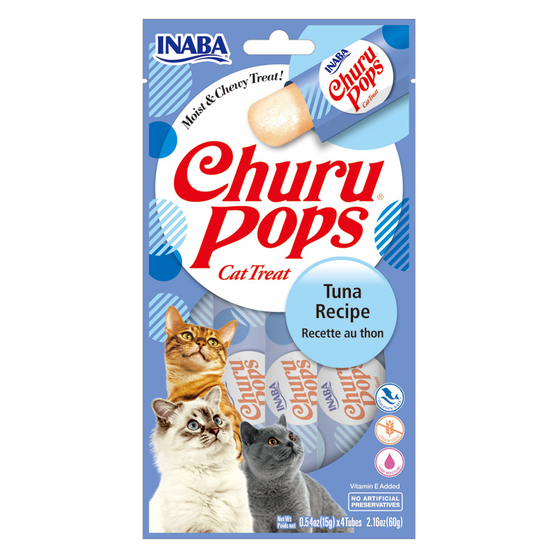 Inaba Churu Pops Cat Treat Tuna Recipe 4 Pack I020232