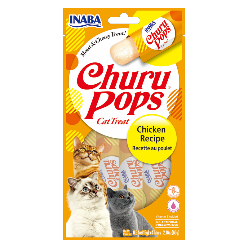 Inaba Churu Pops Cat Treat Chicken Recipe 4 Pack I020233