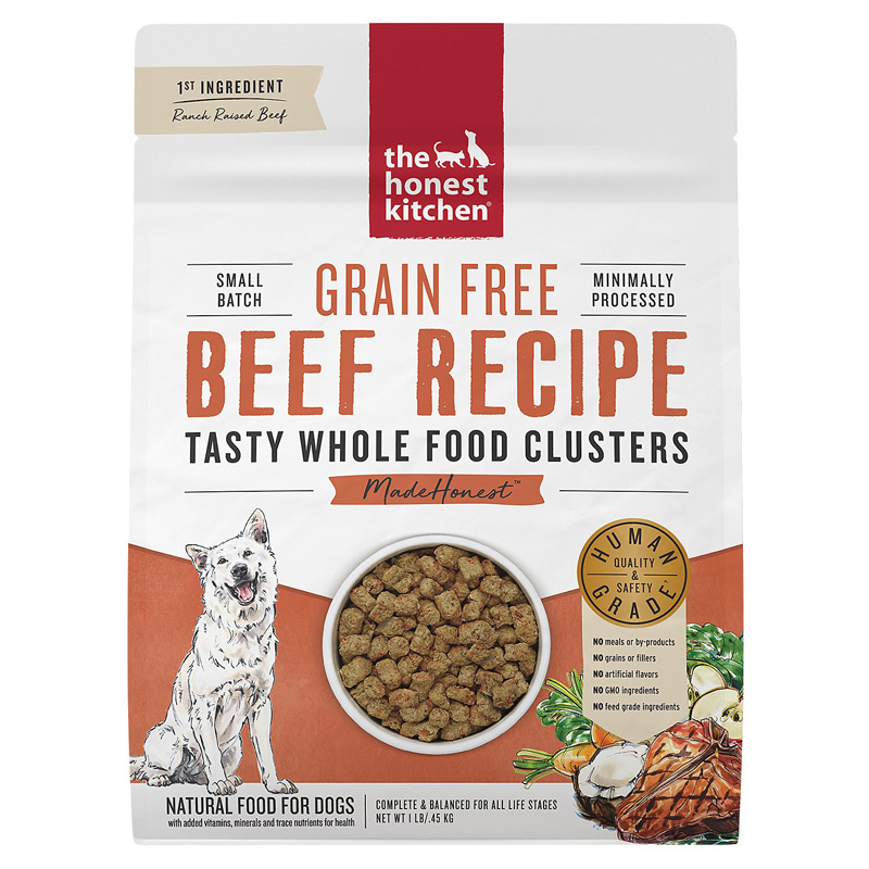 The Honest Kitchen Grain Free Whole Food Clusters Beef Recipe I020237b
