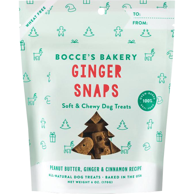Bocce's Bakery Ginger Snaps Soft & Chewy Holiday Dog Treats 6 oz. I020249