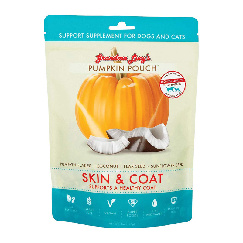 Grandma Lucy's Pumpkin Pouch Skin & Coat Support Supplement for Dogs & Cats I020263