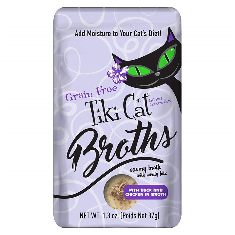 Tiki Cat Grain Free Broths with Chicken & Duck Pouch 1.3 oz I020267