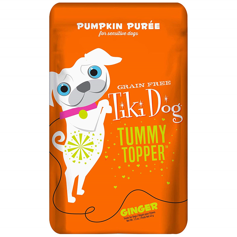 Tiki Dog Tummy Topper Pumpkin Puree & Ginger Pouch 1.5 oz. I020272