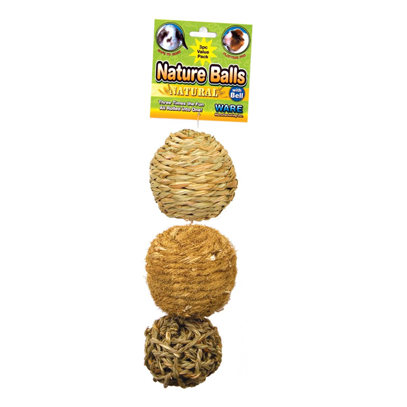 WARE Nature Balls Small Animal Toy 3 pack I020298