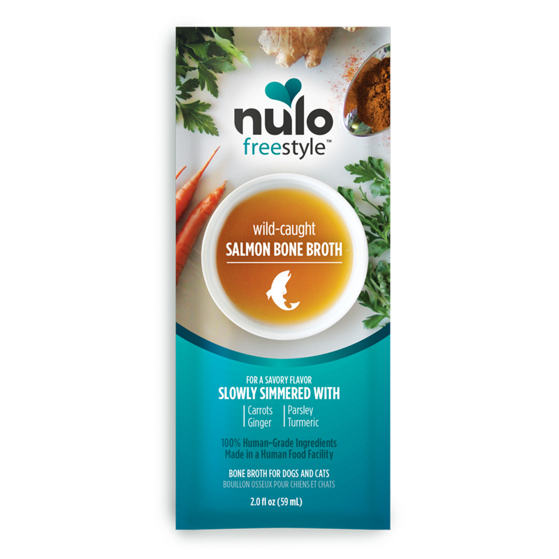 Nulo Freestyle Wild-Caught Salmon Bone Broth for Dogs & Cats 2 oz. I020335