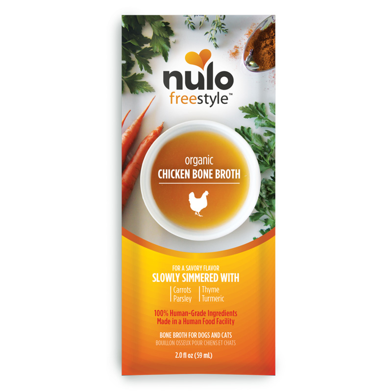 Nulo Freestyle Organic Chicken Bone Broth for Dogs & Cats 2 oz. I020336