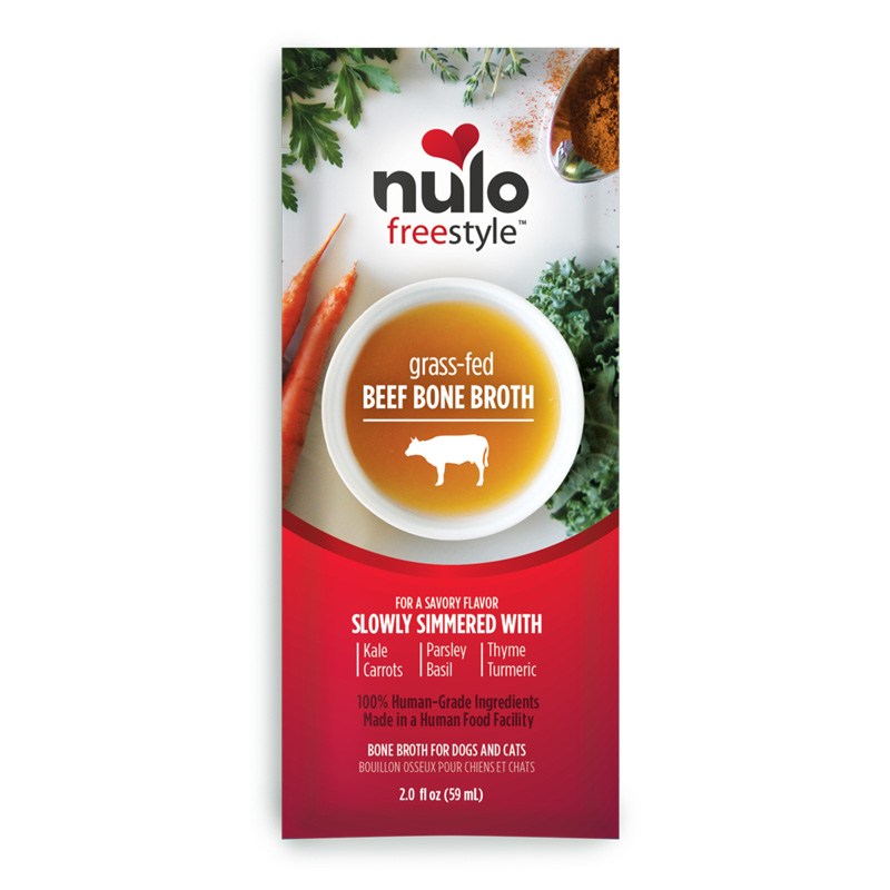 Nulo Freestyle Grass-Fed Beef Bone Broth for Dogs & Cats 2 oz. I020337