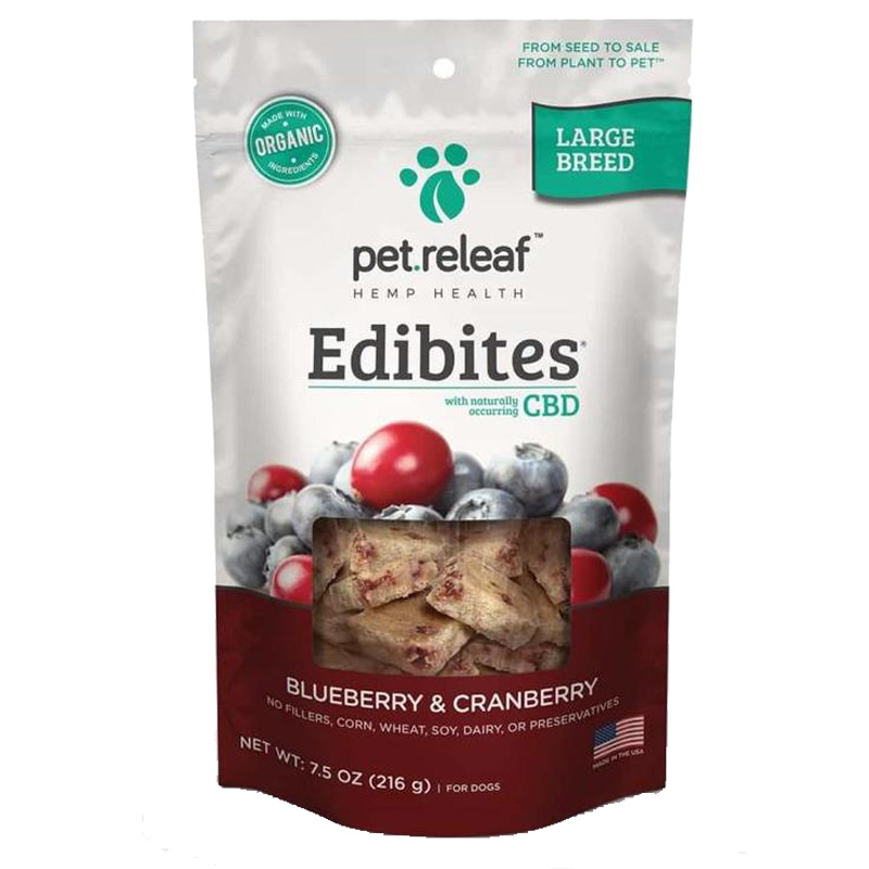 Pet Releaf Edibites Blueberry & Cranberry for Large Breed Dogs 7.5 oz. I020735