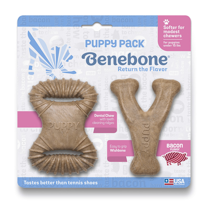 Benebone Puppy Pack Bacon Flavor Dog Chew Toy I021047
