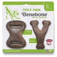 Benebone Tiny 2-Pack Bacon Flavor Dog Chew Toy I021048