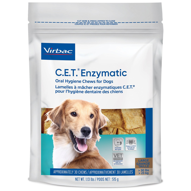 C.E.T. Enzymatic Oral Hygiene Chews for Dogs Large I021180