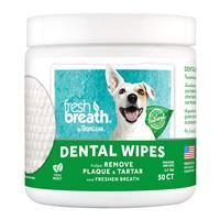 TropiClean Fresh Breath Dental Wipes for Dogs & Cats 50 ct I021378