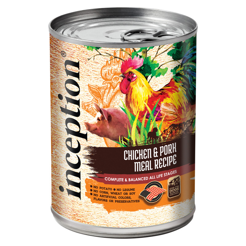 Inception Chicken & Pork Meal Recipe Canned Dog Food 13 oz.  I021431