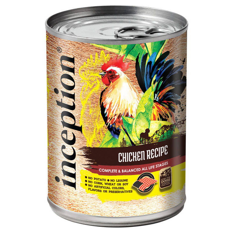 Inception Chicken Recipe Canned Dog Food 13 oz. I021461