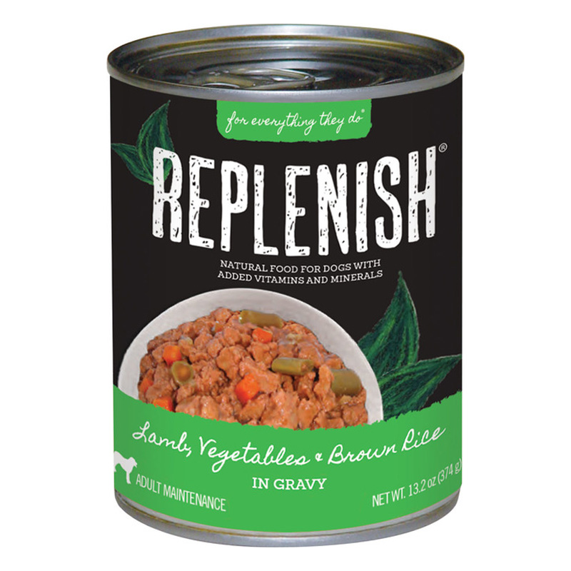 Replenish Lamb, Vegetables & Brown Rice in Gravy Canned Dog Food I021518