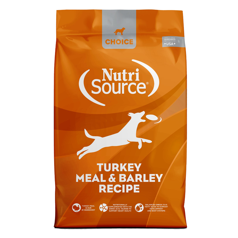 NutriSource Choice Turkey Meal & Barley Recipe Dry Dog Food I021642b