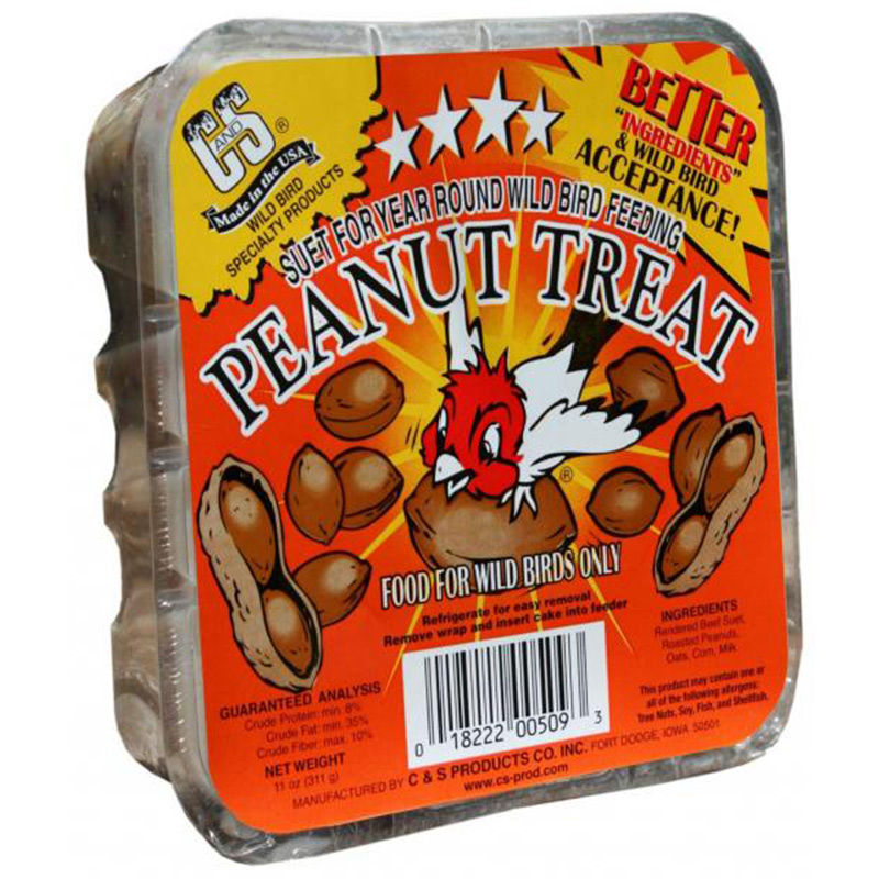Peanut Wild Bird Treat Suet 11oz Z01822200509