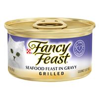 Fancy Feast Grilled Seafood Gourmet Cat Food 3oz 79600