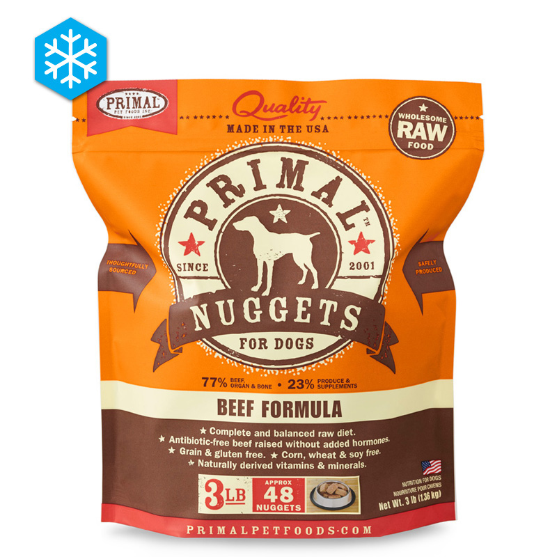 Primal Wholesome Raw Nuggets Beef Formula 3 lb. 922507